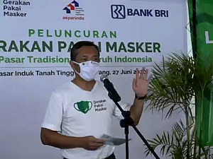 Gerakan Pakai Masker (GPM) di Pasar Rakyat
