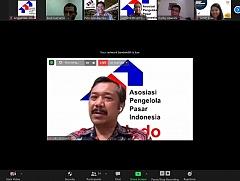 Diskusi UU Cipta Kerja untuk mendukung Pemberdayaan Pasar Rakyat Seluruh Indonesia